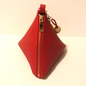 Evolving Always Bags - Red Pyramid Shaped Wristlet Mini Bag New